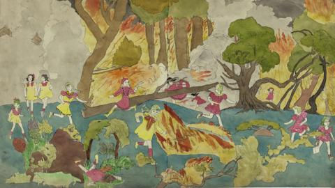 Une œuvre d'Henry Darger.
